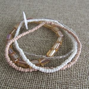 Nordstrom group of 4 stretch bead bracelets